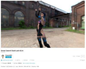 VRアイドルアニメーション Sketchfab